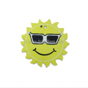 smiley sun hanging air freshener armarox.com