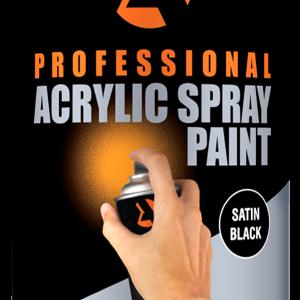 satin black acrylic spray paint